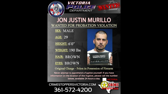 Crime Stoppers searching for fugitive charged with gun possession as a felon