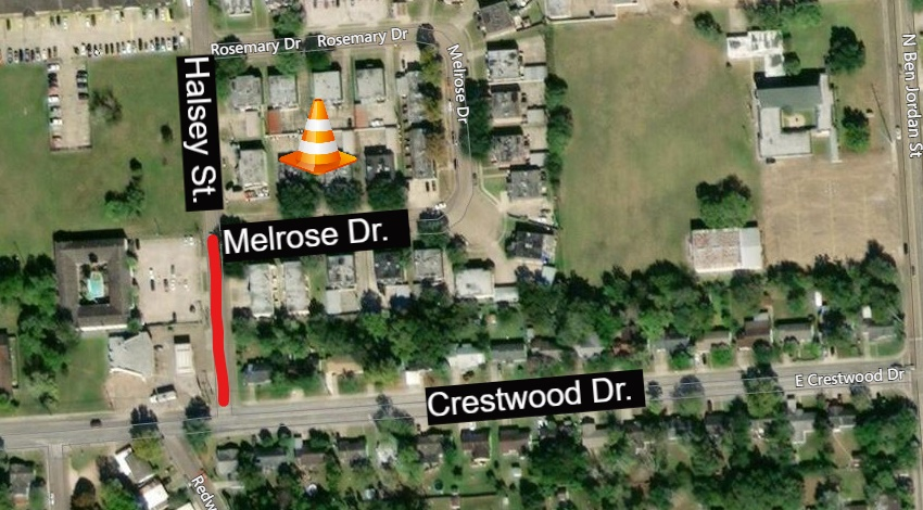 Halsey Street partially closed for construction