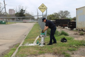 Victoria Fire Department performs maintenance on fire hydrants