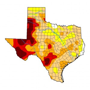Drought Conditions in Texas on November 25, 2020