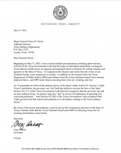 Governor Abbott orders Texas National Guard